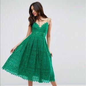 NWT ASOS Lace Cami Midi Prom Dress